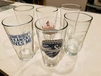 6 pint glasses, beer, drinks Washington