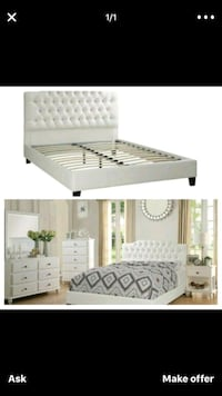 Queen leather ???? Bedframe 269. With mattress 370 Hollywood, 33023