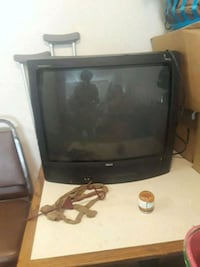 black CRT TV with remote Oklahoma City, 73127