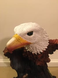 "Hand carved wooden bald eagle ""The Injured Eagle"" Maple Ridge, V2W"