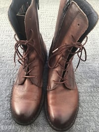 Women's mid-calf lace-up leather boots by Felmini, size 39 Vancouver, V6E 0B1