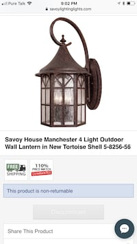 Savoy House 4 Light outdoor wall lantern Arab, 35016