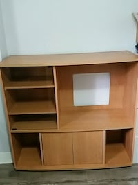 brown wooden computer desk with hutch Vancouver, V6N 3C2