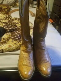 pair of brown leather cowboy boots Hyattsville, 20785