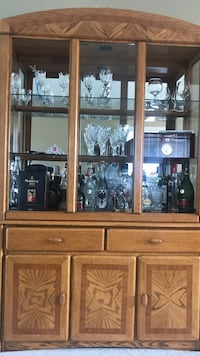 Brown wooden china cabinet Windsor, N9B 0A1