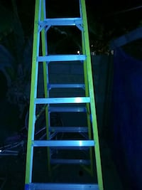 green and gray Werner A-frame ladder Cypress, 90630