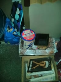 Selling Playboy photos and books and tin cans Jack in the box can