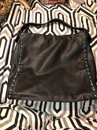 Black leather crossbody bag Excellent used condition  Gate City, 24251