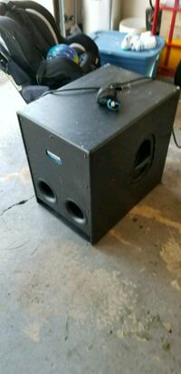 black and gray subwoofer speaker Bowie, 20715