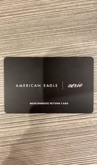 American eagle gift card with receipt