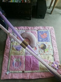 pink and white floral travel cot Camarillo, 93010