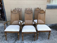 Six cane back dining room chairs – 2 with arms, 4 without! ALL $169!!!