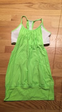 green cold-shoulder dress Prince George