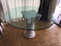 Glass dining table West Vancouver