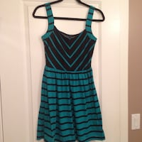 women's teal and black striped sleeveless dress Surrey, V3R 5Y7
