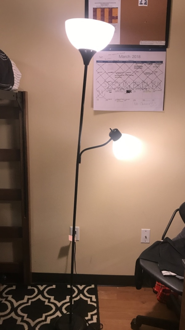 6 foot black lamp post