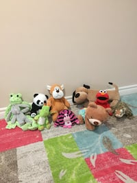 assorted animal plush toys lot Toronto, M3L 1L6