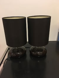 2 brown side table lamps Mississauga, L5T