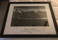 """Framed Ansel Adams print. """"The Mural Project 1941 a 1942 Island Lake"""". Sterling, 20166"""