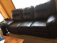 Leather Couch with matching Love Seat. BURLINGTON
