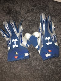 pair of blue-and-white Under Armour gloves Toronto