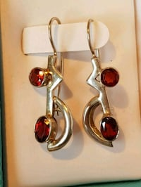 Silver and gem earrings Edmonton, T5T 6P8