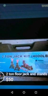 2 ton floor jack and jack stands new $50.00