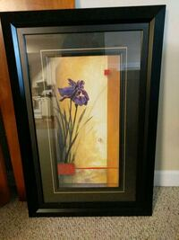 brown wooden framed painting of pink flowers Ashburn, 20147