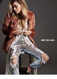 Forever21 Sequin/Distressed Jeans