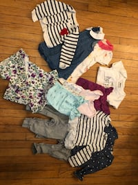 Lot of baby clothes size 6-12 months