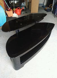 black and gray TV stand North York, M9L 1X6