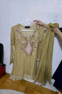women's brown and pink long sleeve dress Toronto, M4H 1L4
