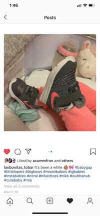 Baby Nike's grey and pink sise 3c Toronto, M3N