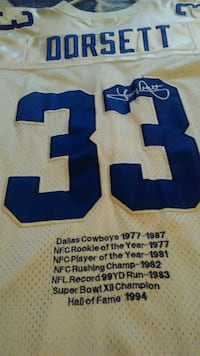 white and blue Dallas Cowboys jersey Midwest City, 73130