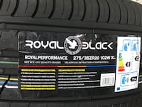 275/35/20 new tires royal black sale by piece for $100.00 each tire no mounted no balance no machine.  1152 mi