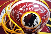 Redskins autographed full size helmet from 1996/1997 training camp