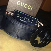 black leather Gucci belt with box Queens, 11412