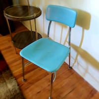 vintage retro light Turquoise blue accent chair  Warren