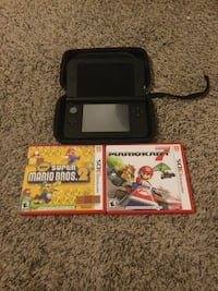 black Nintendo 3DS with game case Greenville, 75402