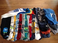 11 -Long sleeve shirts , 5- short sleeve shirts , 6 - shorts ,3 hoodie fall jackets,  for boy's  size 7/8 Hamilton, L8W 3Z3