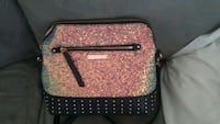 pink and black leather crossbody bag Saint Petersburg, 33714