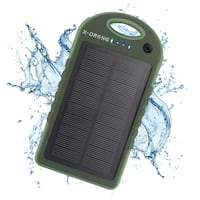 Solar Charger, X-DNENG 12000mAh High Capacity Portable Solar Power Bank Waterproof Shockproof Dustproof Solar Battery Charger Dual USB Port LED Light for CellPhone iPhone iPad Samsung Android and More Toronto