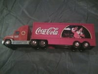 red and white Coca-Cola freight truck scale model