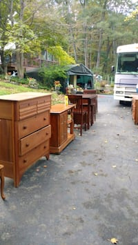 brown wooden dresser with mirror Somers, 10589