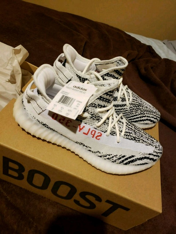 08b2384ddbcba Used Adidas YEEZY BOOST 350 V2 Zebra size 9 with box for sale in ...