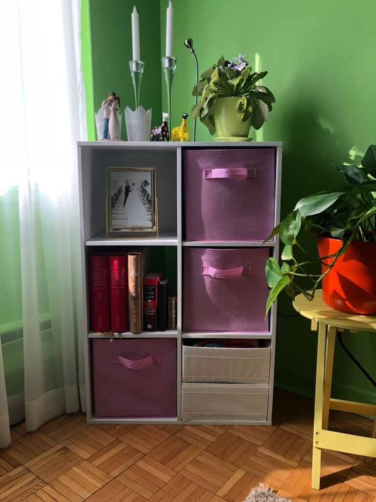 used white wooden cubby shelf with assorted color item lot for sale rh gb letgo com