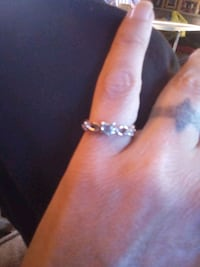 Sterling Silver ring h with December birthday stone size 6 Blanchard, 73010