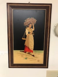 Wooden antic painting
