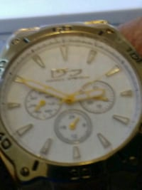 round gold-colored chronograph watch with link bracelet Pensacola, 32526