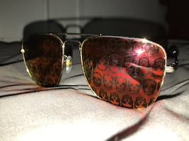 Gucci Gold Skulls Sunglasses